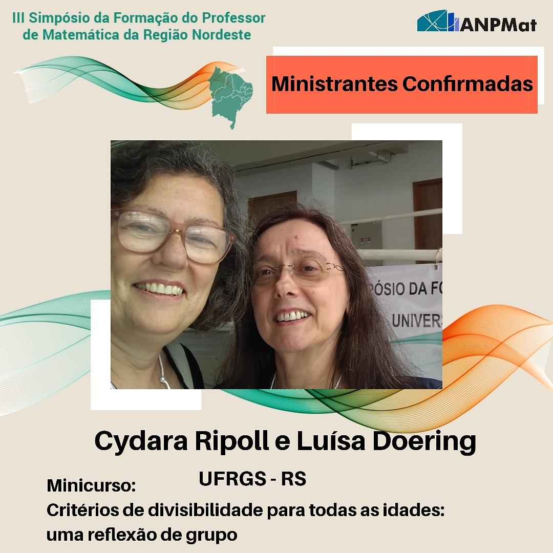 Cydara Ripoll e Luísa Doering